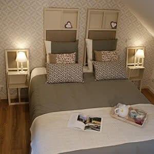 Vue sur la chambre Ti Milin, accès aux chambres d'hôtes