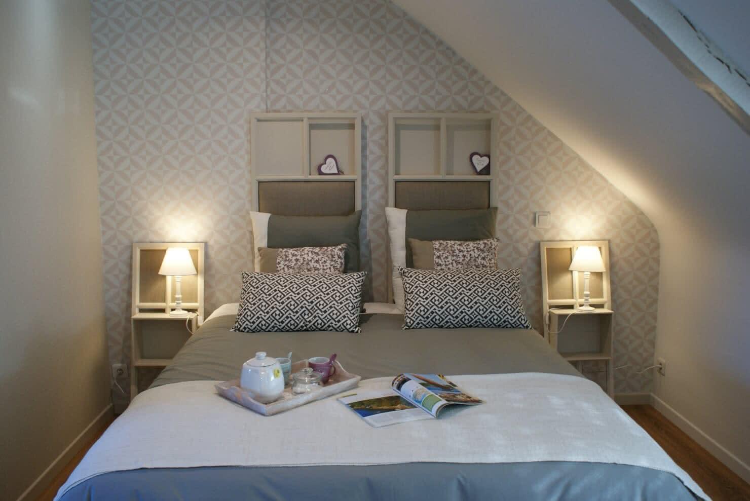 Chambre d'hôtes Ti Milin - Espace nuit avec lit de 160